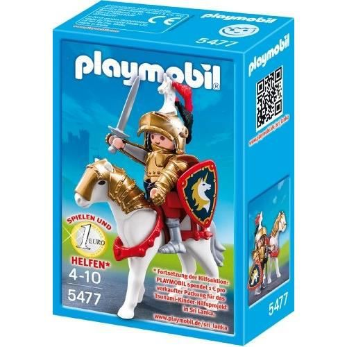 Playmobil  4937  Jeu de Construction  Cavalier avec Armure et Cheval