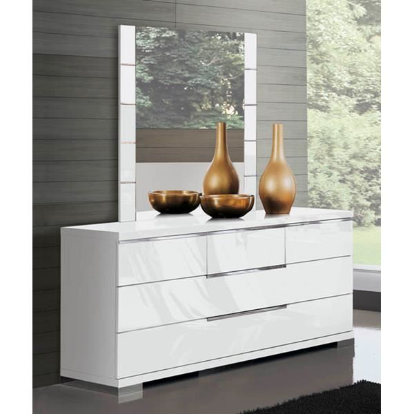commode glossy blanc 6 tiroirs achat vente commode de chambre commode glossy blanc 6 tiro. Black Bedroom Furniture Sets. Home Design Ideas