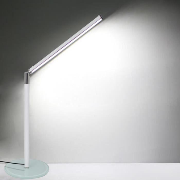 Lampe de table led blanche achat vente lampe de table for Lampe de table blanche