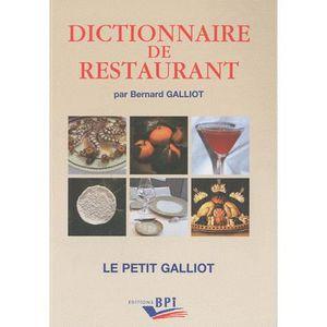 MANUEL BAC PRO BEP CAP Dictionnaire de restaurant