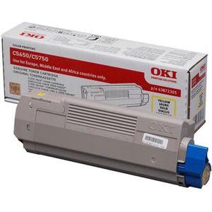 OKI Cartouche toner 43872305 - Compatible C5650/C5750 - Jaune - Capacité standard 2.000 pages