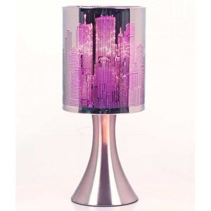 LAMPE A POSER Lampe Touch New-York City a variateur Modele Mauve