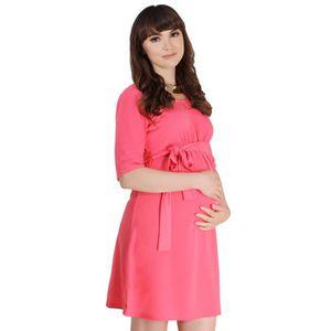 ROBE Maternité Robe Courte Uni Taille Empire Elastiq...