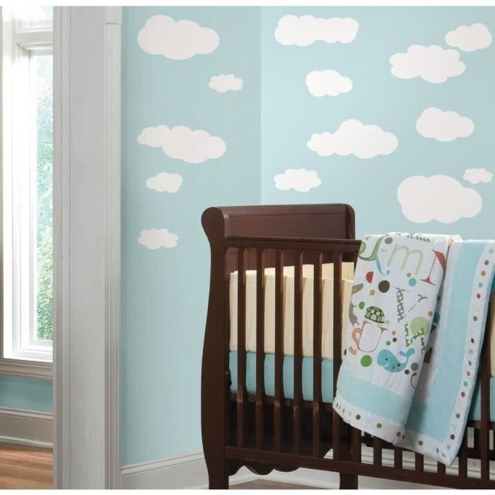 stickers muraux nuages blancs achat vente stickers cdiscount. Black Bedroom Furniture Sets. Home Design Ideas
