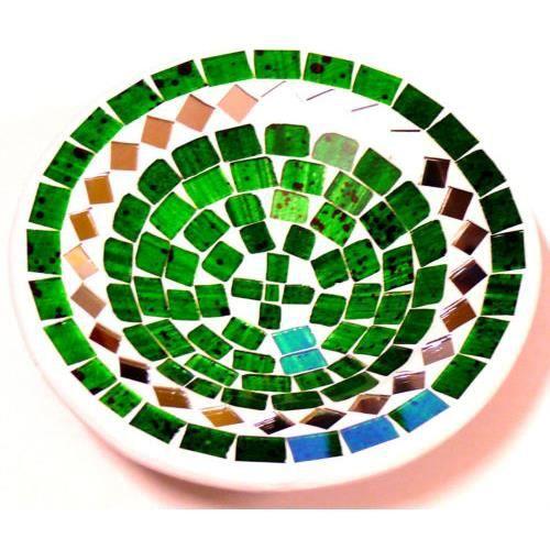 Plat mosaique coupe assiette 15 cm vide poche pote achat - Comment couper un miroir sans coupe verre ...
