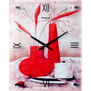 Pendule 2 vases rouge achat vente horloge pendule 2 vases rouge cdiscount - Pendule rouge design ...