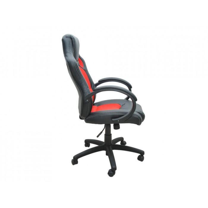 bc elec bs11010 4 si ge baquet fauteuil de bure achat vente chaise de bureau rouge cdiscount. Black Bedroom Furniture Sets. Home Design Ideas