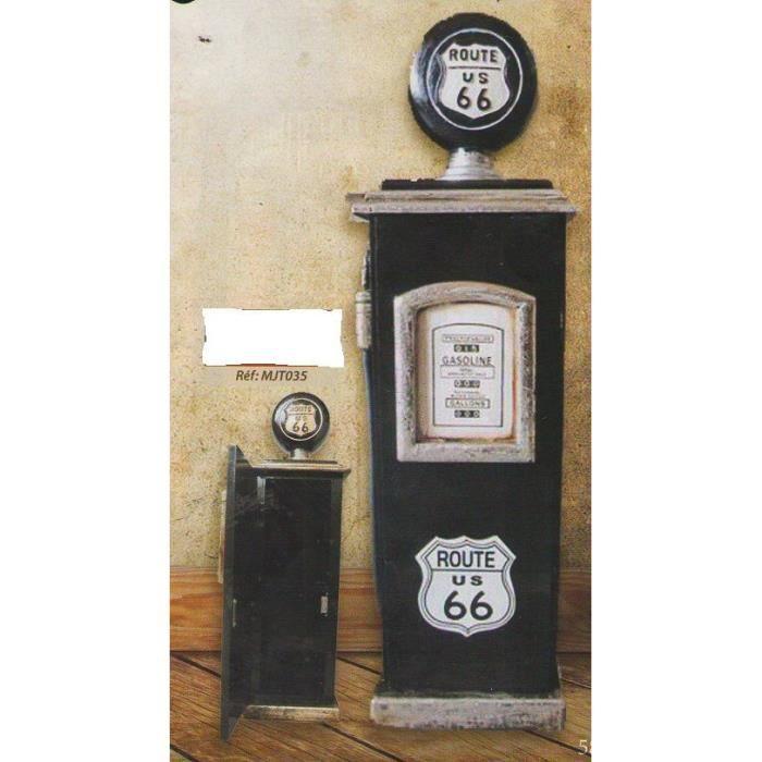 boite clefs en bois route 66 noire 18x18x63 cm achat vente armoire boite a cl cdiscount. Black Bedroom Furniture Sets. Home Design Ideas