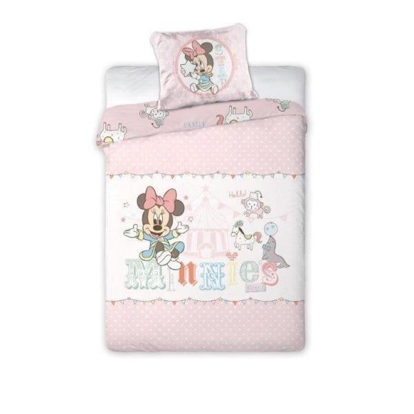 minnie parure de lit r versible enfant 100x135 cm achat. Black Bedroom Furniture Sets. Home Design Ideas