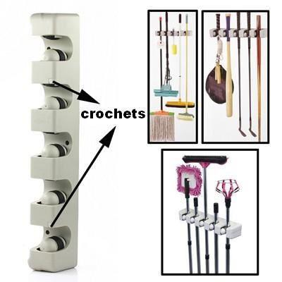 kit de fixation au mur pour outils manche achat. Black Bedroom Furniture Sets. Home Design Ideas