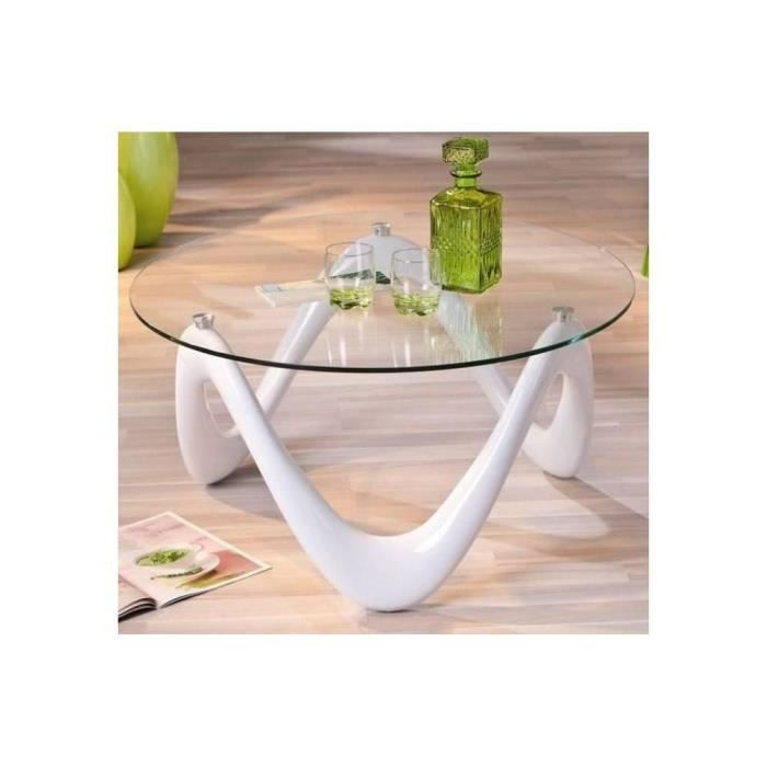 Table Ronde Laquee Blanche Achat Vente Table Ronde