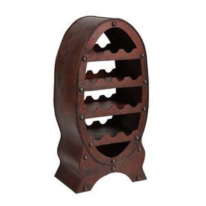 casier 14 bouteilles marron style ancien tonneau bois r serve bar achat vente meuble range. Black Bedroom Furniture Sets. Home Design Ideas