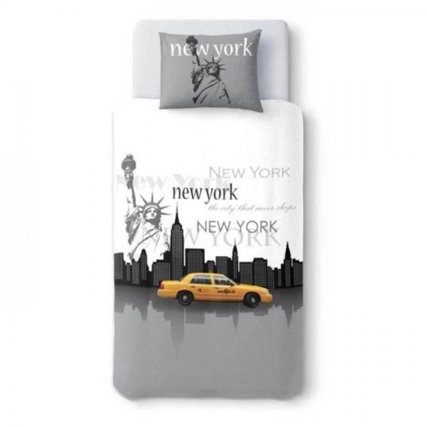 New york never sleeps 140x200 achat vente housse de - Housse de couette new york 140x200 ...