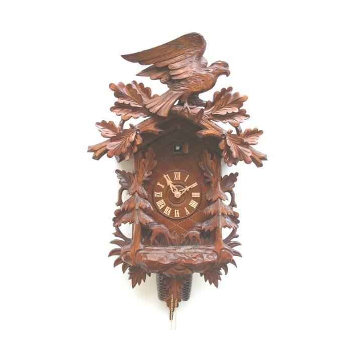 pendule coucou motif gare 1885 achat vente horloge. Black Bedroom Furniture Sets. Home Design Ideas
