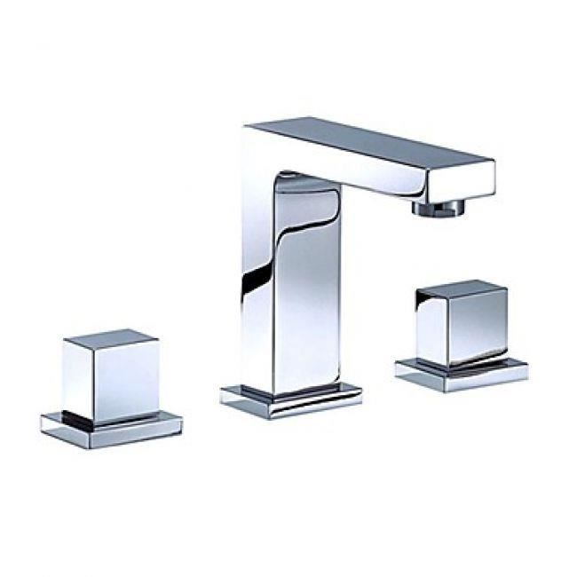 Lookshop robinet salle de bain double poign e finition for Finition de salle de bain