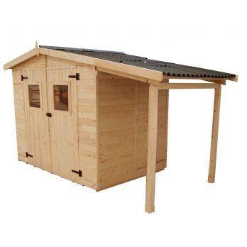 abri de jardin bois en panneaux 16 mm avec plan achat. Black Bedroom Furniture Sets. Home Design Ideas