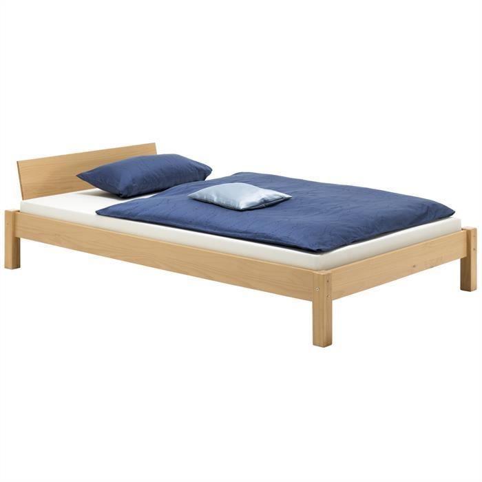 lit mistral 120x200 cm lasur couleur h tre achat. Black Bedroom Furniture Sets. Home Design Ideas
