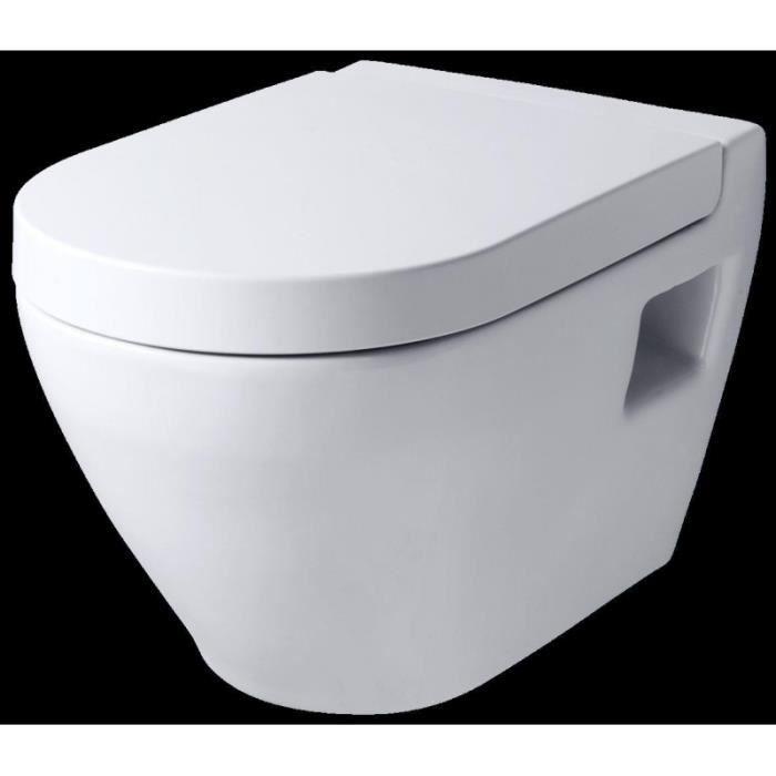 cuvette suspendue avec abattant magn tique achat vente abattant wc cdiscount. Black Bedroom Furniture Sets. Home Design Ideas