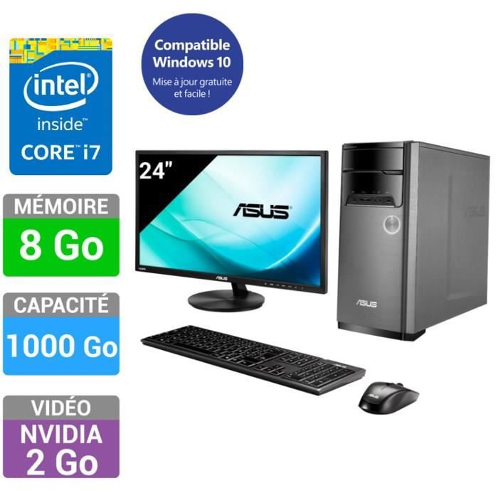 asus pc de bureau m32ad fr077s ecran 23 8 full hd asus vn248ha achat vente unit centrale. Black Bedroom Furniture Sets. Home Design Ideas