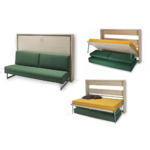 LIT ESCAMOTABLE Lit escamotable avec canapé 160x200 TOKAI H5L..…
