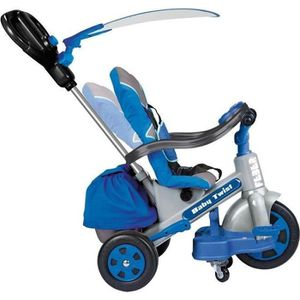 TRICYCLE FEBER Tricycle Evolutif Baby Twist 360° Bleu 10 Po