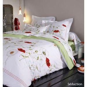 housse de couette 240x260 vert achat vente housse de couette 240x260 vert pas cher cdiscount. Black Bedroom Furniture Sets. Home Design Ideas