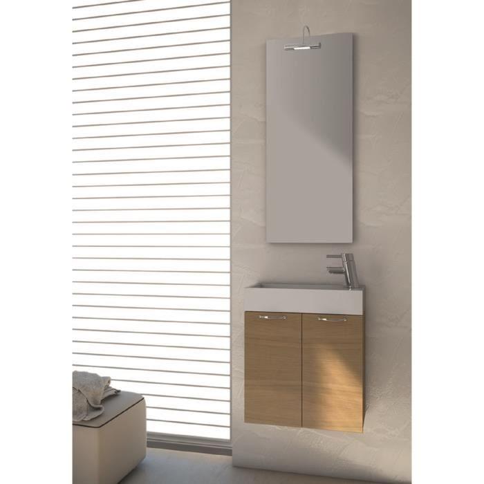 Angela meuble pour salle de bains avec vier et miroir for Evier salle de bain avec meuble