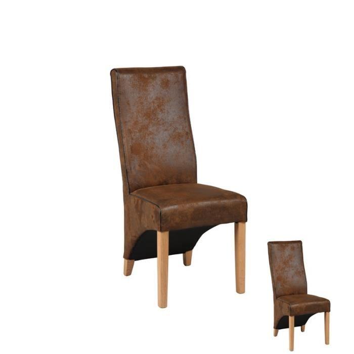 Duo de chaises marrons bali achat vente chaise bois for Chaise norvegienne