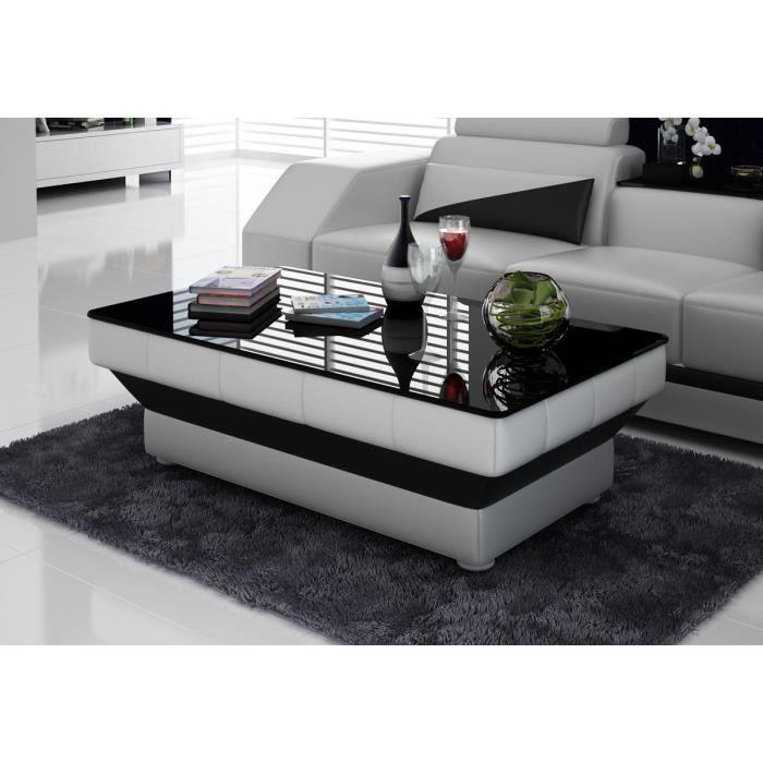 table de salon noir et blanc