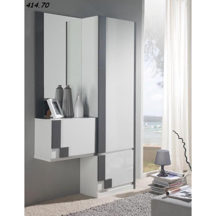 Meuble d 39 entr e gillus 51 m lamin achat vente meuble for Meuble de rangement hall d entree