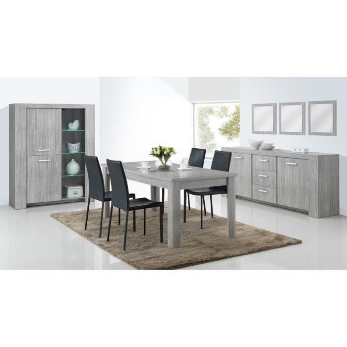 salle manger salle manger complte contemporaine lord table - Salle A Manger Gris Anthracite