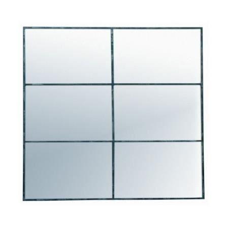 miroir fen tre 6 divisions en m tal effet vieilli achat vente miroir m tal cdiscount. Black Bedroom Furniture Sets. Home Design Ideas