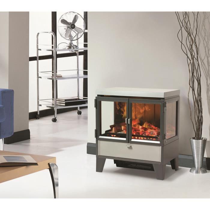 cheminee electrique realiste. Black Bedroom Furniture Sets. Home Design Ideas