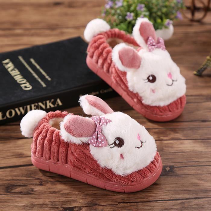 pantoufle enfant hiver chuaud chausson lapin rouge achat vente chausson pantoufle. Black Bedroom Furniture Sets. Home Design Ideas