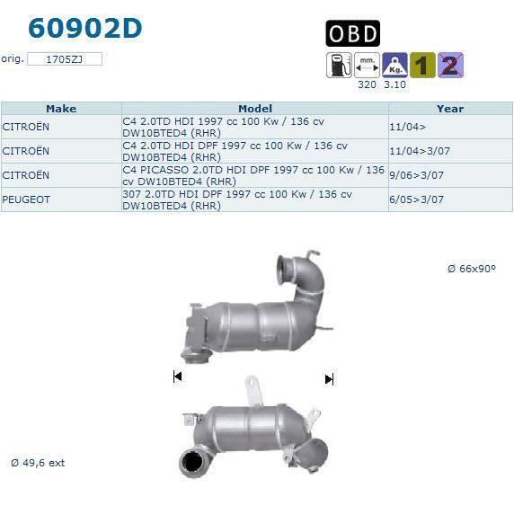 pot catalytique peugeot 307cc magnaflow achat vente pot catalytique pot catalytique peugeot