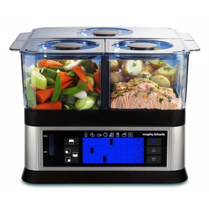 Cuit vapeur intelligent programmable morphy richard for Appareil vapeur cuisine