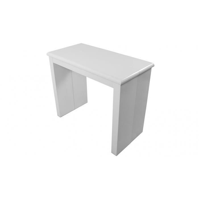console extensible laqu e 195 cm laqu blanc cy achat vente console extensible console. Black Bedroom Furniture Sets. Home Design Ideas