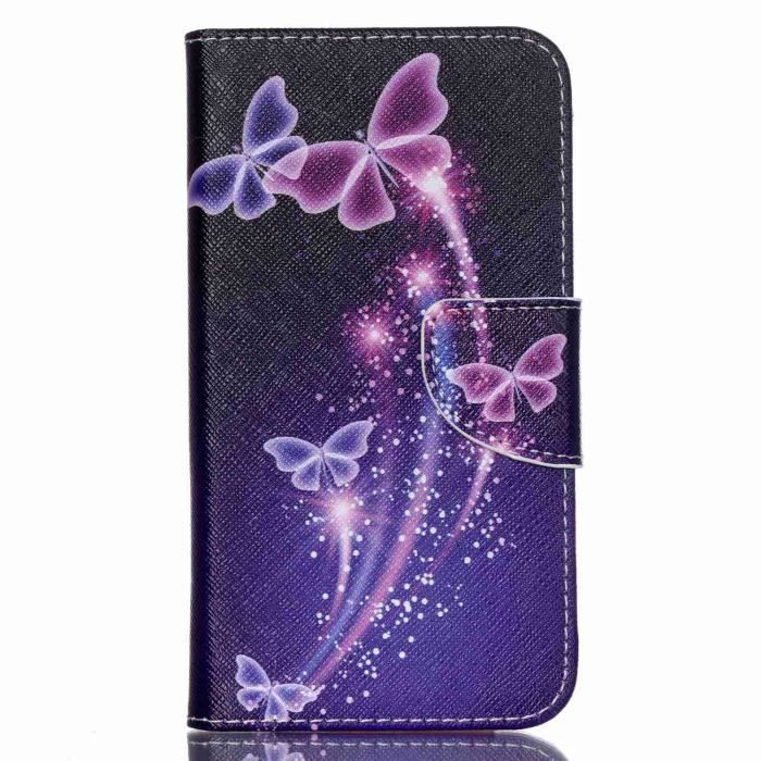 Vg wiko lenny 2 papillons style coque tui rabat en cuir for Coque portefeuille wiko lenny 2