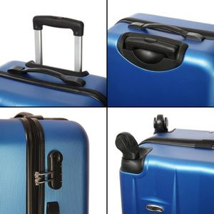CASINO Valise trolley ABS - 70cm - 4 roues - Bleu