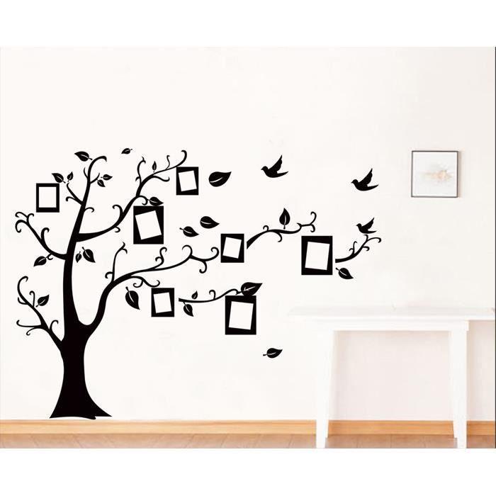 arbre noir cadre photo mur de photo muraux stickers d coration murale achat vente stickers. Black Bedroom Furniture Sets. Home Design Ideas