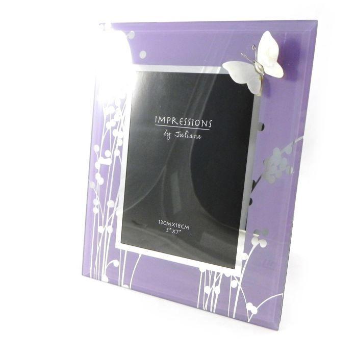 cadre photo papillon de soie lilas 13x18 cm achat vente cadre photo cdiscount. Black Bedroom Furniture Sets. Home Design Ideas