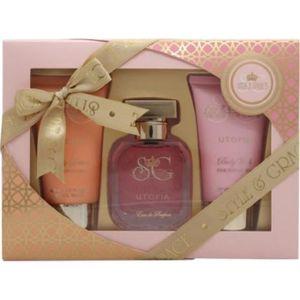 EAU DE PARFUM coffret cadeau femme(Parfum & Soin corps)fleur de