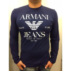 T-SHIRT Tee Shirt ARMANI JEANS Manches Longues Homme