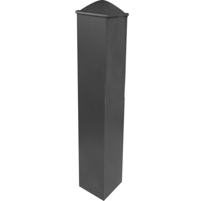 Poteau hauteur pilier de portail aluminium 150x150 for Abris de jardin ral 7016
