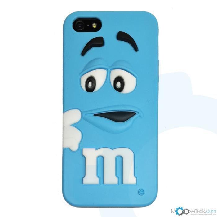 Coque silicone m m s 3d bleu pour iphone 4 et 4s achat for Cuisine 3d pour iphone
