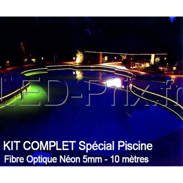 kit complet fibre optique n on 10m sp cial piscine achat vente projecteur lampe kit. Black Bedroom Furniture Sets. Home Design Ideas