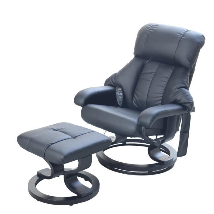 Fauteuil relax massant brasilia achat vente fauteuil cuir bois cdiscount - Fauteuil relaxation massant ...