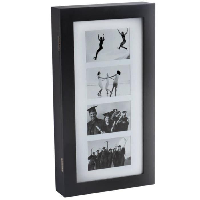 armoire bijoux design r tro 56 cm murale noir 1401031. Black Bedroom Furniture Sets. Home Design Ideas