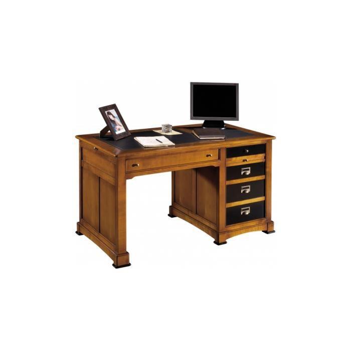 bureau merisier laque noire 3 tiroirs achat vente. Black Bedroom Furniture Sets. Home Design Ideas