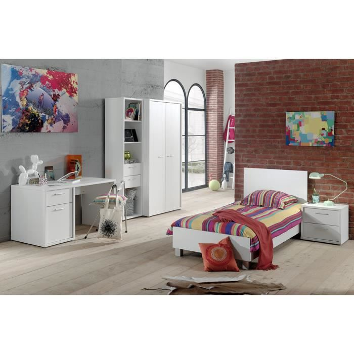 lit b b moderne volutif barreaux 60x120 cm coloris blanc blanc achat vente lit b b. Black Bedroom Furniture Sets. Home Design Ideas